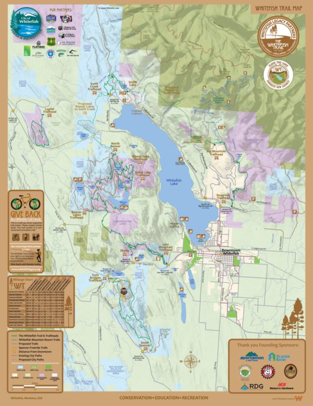 Whitefish Legacy Trail System Map Whitefish Montana