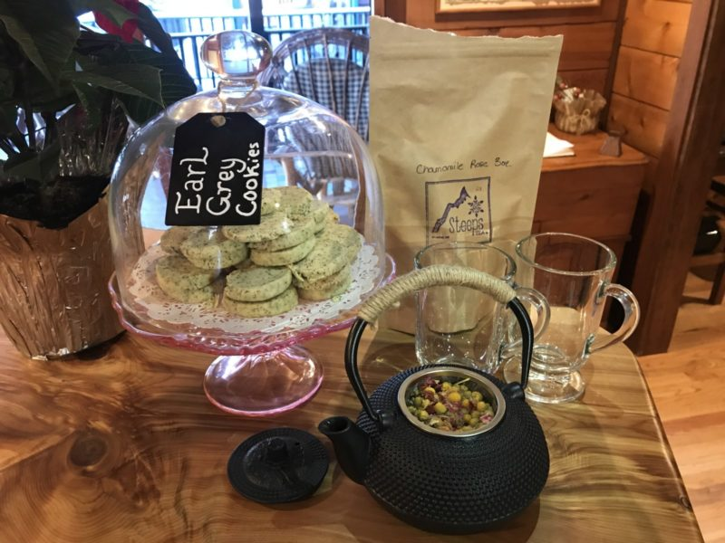 Steeps in Whitefish Montana Loose Tea and Endless Cookies Included at Good Medicine Lodge