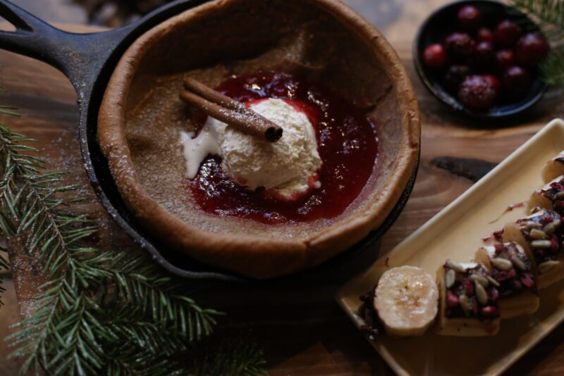 Cranberry Dutch Baby Good Medicine Lodge Bed and Breakfast Whitefish Montana