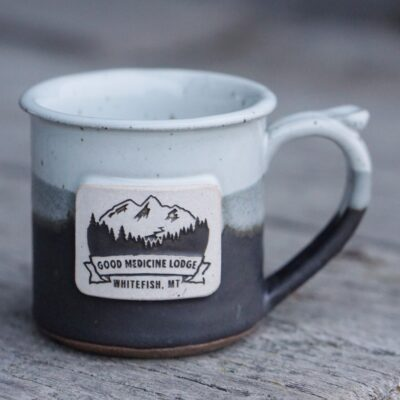 Good Medicine Lodge Logo Mug Light Gray Charcoal