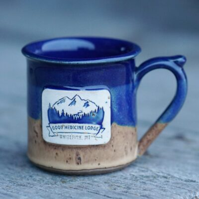 Good Medicine Lodge Logo Mug Blue Mocha