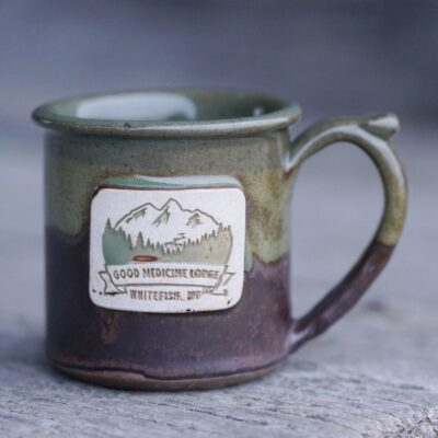 Good Medicine Lodge Logo Mug Chocolate Sage