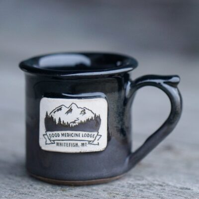 Good Medicine Lodge Logo Mug Black Matte Black